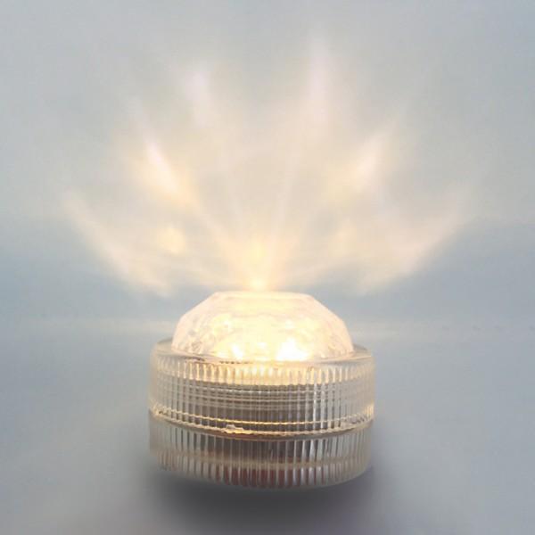 LED-Lichter wasserdicht 3x2,2cm 10 St. Kunststoff, inkl. 20 Batterien&Klebeetiketten