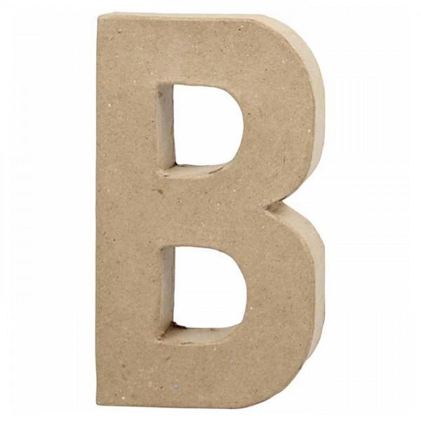 Buchstabe B Pappmaché ca. 115x200x25mm
