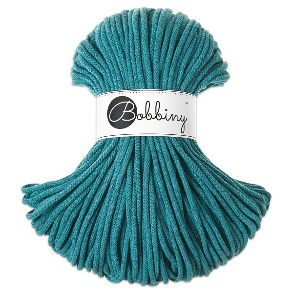 Bobbiny Rope-Garn Premium Ø5mm teal ca. 400g-500g, 100% Baumwolle, LL 100m