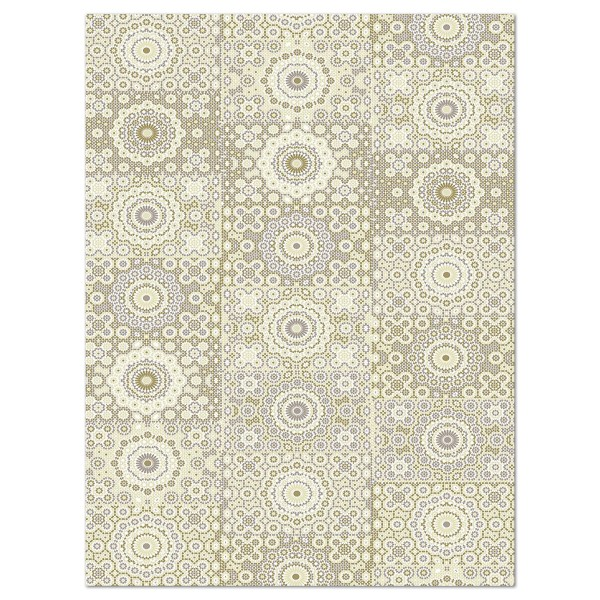 Decoupagepapier Muster cremefarben von Décopatch, 30x40cm, 20g/m²