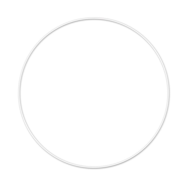 Metallring/Drahtring rund weiß 3mm Ø 20cm