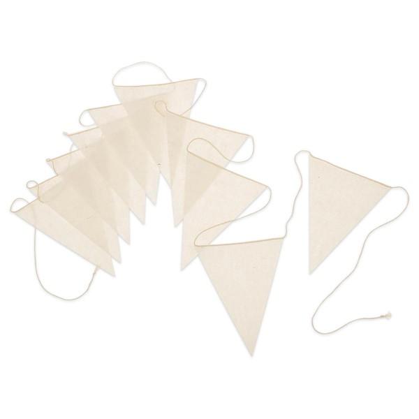Fähnchen-Girlande 12x15cm 3m lang natur 60% Baumwolle, 40% Polyester