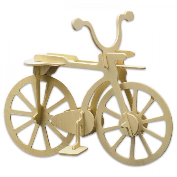 Holzbausatz Fahrrad 20x15cm 11 Teile vorgestanzt, zum Zusammenstecken