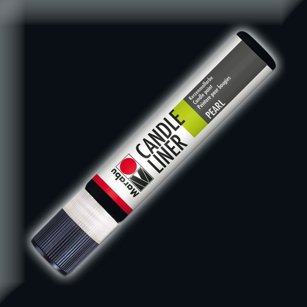 Candle Liner 25ml Kerzenmalfarbe schwarz Wasserbasis