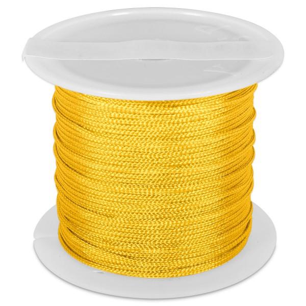 Knüpfgarn glänzend 1mm 5m gelb 100% Polyester