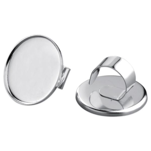Ring für Modelliermasse Ø ca. 36mm rund silberfarben Metall