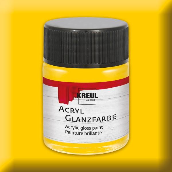 Acryl-Glanzfarbe 50ml sonnengelb