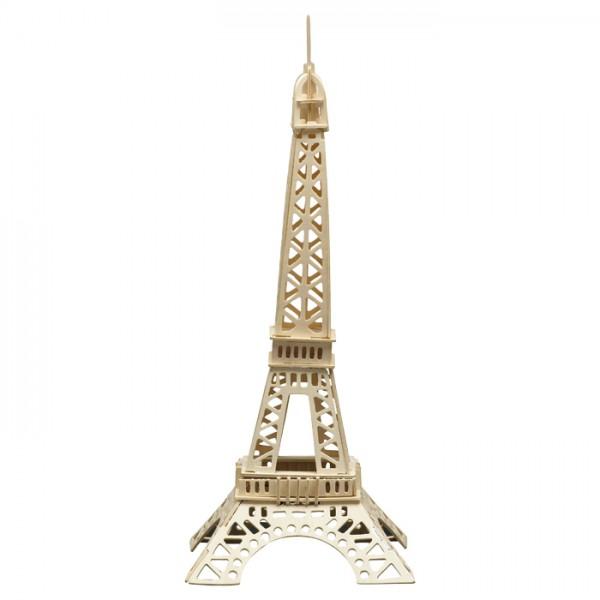 Holzbausatz Eiffelturm 22x55cm 52 Teile vorgestanzt, zum Zusammenstecken