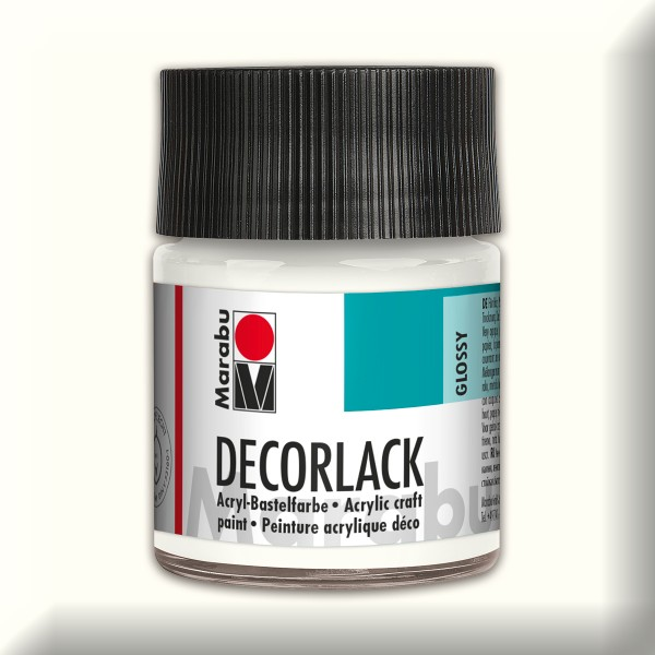Decorlack Acryl glänzend 50ml weiß