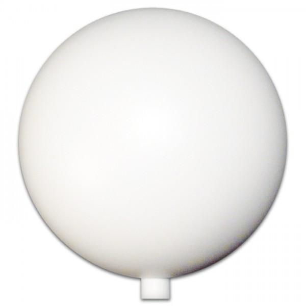 Kunststoffkugel Ø 6cm weiß Aufsteckstutzen für Rundstab 8mm