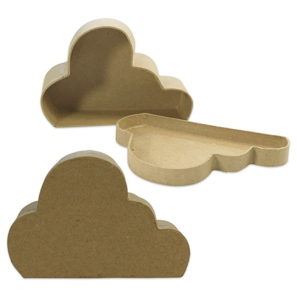 Wolken-Box Pappmaché 13,5x9x4cm von Décopatch