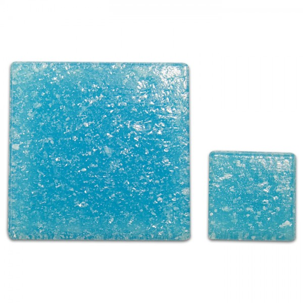 Glasmosaik Joy 10x10x4mm 200g azurblau ca. 290 Steine