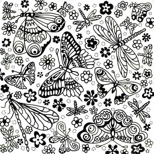 Texturmatte Gummi 9x9cm Butterfly