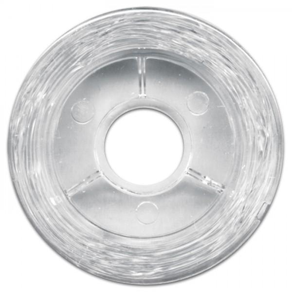 elastischer Perlonfaden 0,6mm 10m transparent sehr reißfest