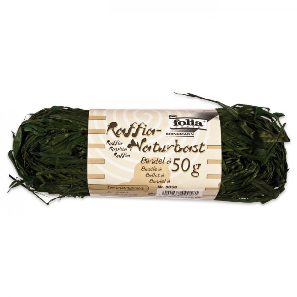 Naturbast Bündel 50g tannengrün