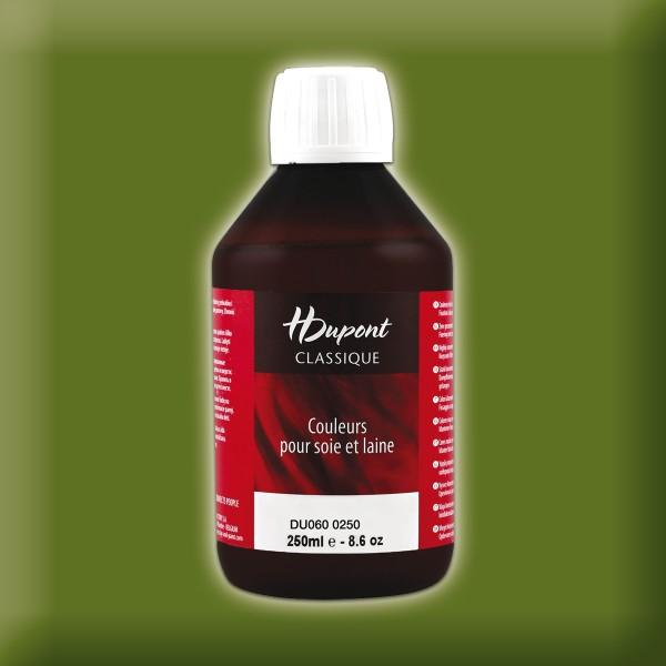 H.Dupont Classique 250ml Olive/olivgrün Seidenmalfarbe, Dampffixierung