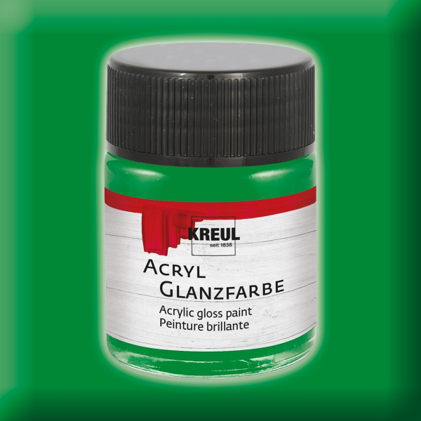 KREUL Acryl-Glanzfarbe 50ml dunkelgrün