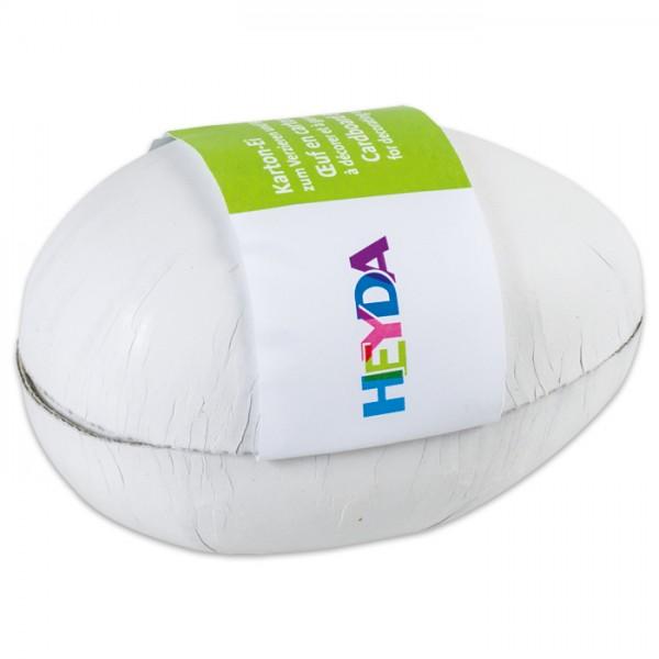 Karton-Ei zum Öffnen 12x7cm weiß