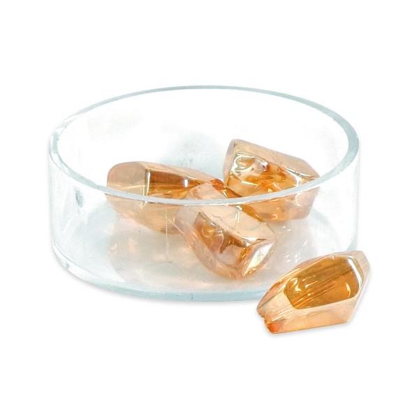 Glasschliffperlen ca. 16x13mm 10 St. topas AB Regenbogeneffekt, Lochgr. ca. 1mm