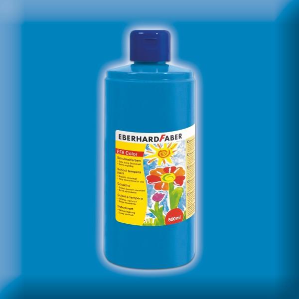 Color-Schulmalfarbe 500ml cyanblau