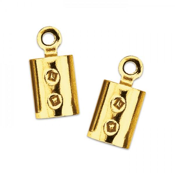 Endkappen zum Klemmen Ø 5mm 2 St. goldfarben Metall, Lochgröße ca. 1mm