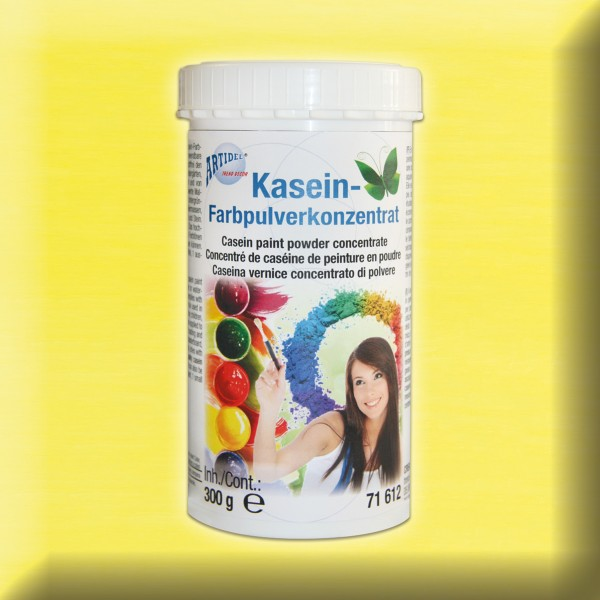Kasein Pulverfarbe 300g zitronengelb Farbpulverkonzentrat
