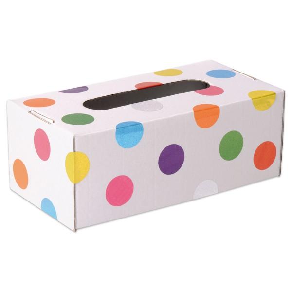 Tücherbox 24x12,5x9cm 10 St. weiß stabiler Karton, ohne Inhalt