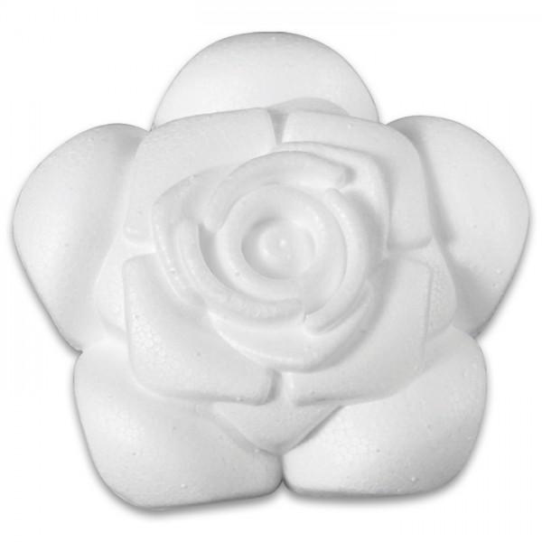 Styropor-Rose weiß Ø 8,5cm