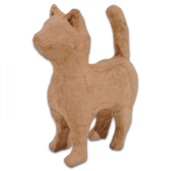 Katze stehend Pappmaché 11x5x12cm Größe XS, von Décopatch