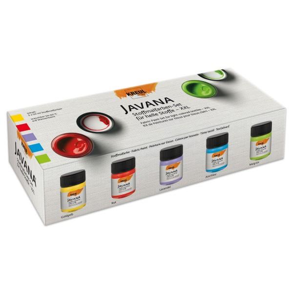 Stoffmalfarben-Set XXL 5 Farben à 50ml für helle Stoffe