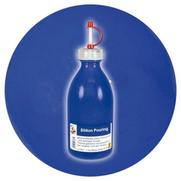 Just4Art Silikon Pouring Farbe 250ml ultramarinblau mit Spritzdüse