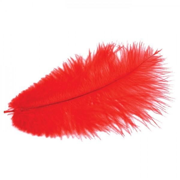 Straußenfedern ca. 20cm 2 St. rot