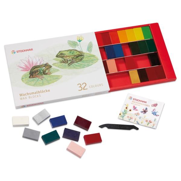 Stockmar Wachsmalblöcke 41x23x12mm 32 Farben unzerbrechlich