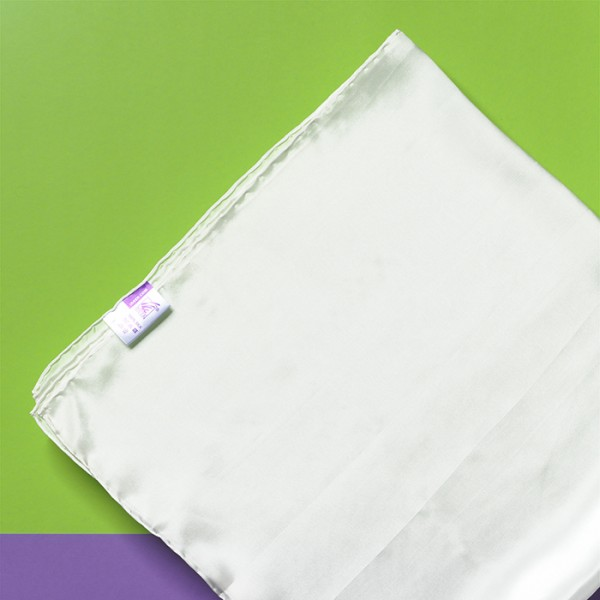 Tuch Crêpe de Chine 08 90x90cm naturweiß 100% Seide