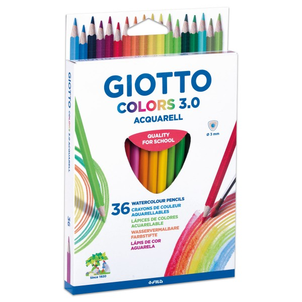 Giotto Colors 3.0 Acquarell 3mm 36 St.