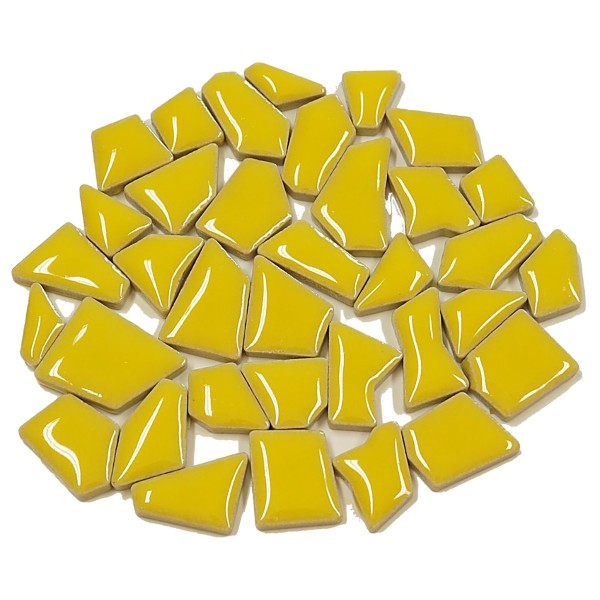 Flip-Keramik Mini 200g ca. 160 Steine maisgelb 5-20mm, ca. 4mm