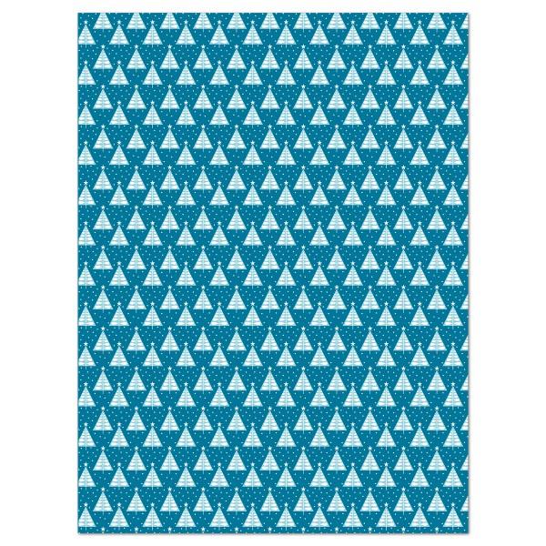 Decoupagepapier Weihnachtsbäume von Décopatch, 30x40cm, 20g/m²