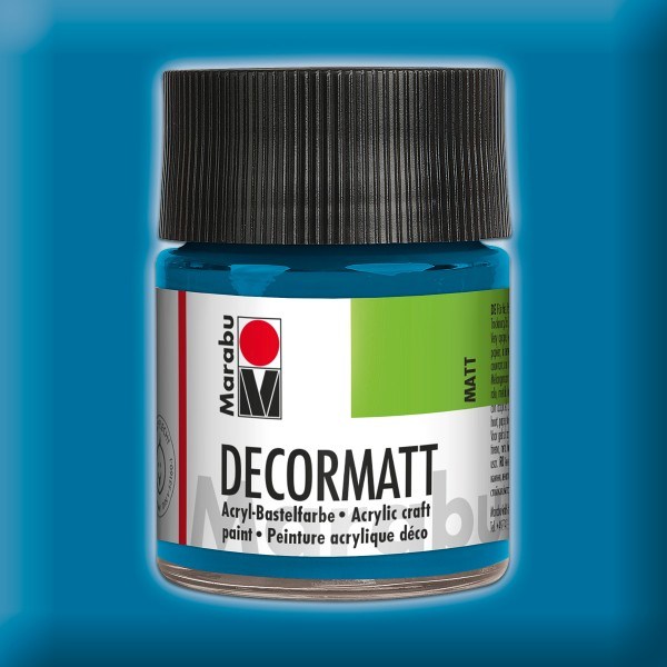 Decorlack Acryl matt 50ml cyan