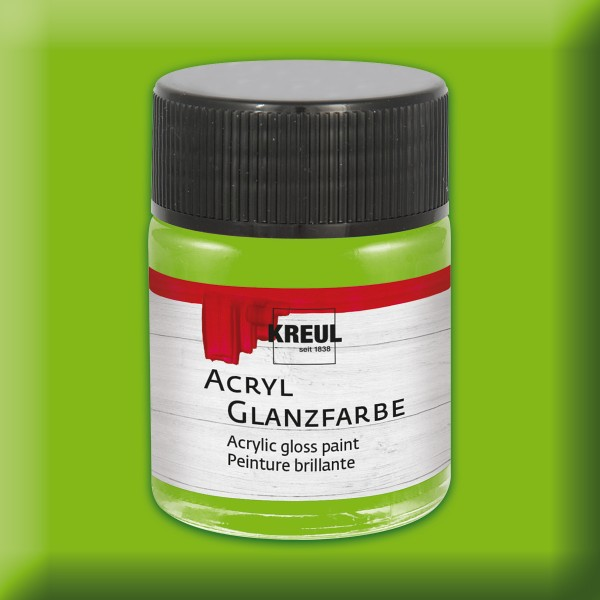 Acryl-Glanzfarbe 50ml lindgrün