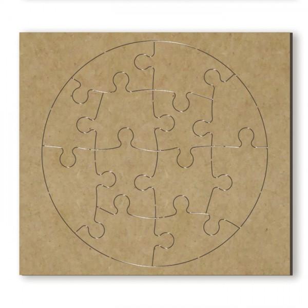 Puzzle Kreis MDF 3mm 14,5x13cm 13 Teile