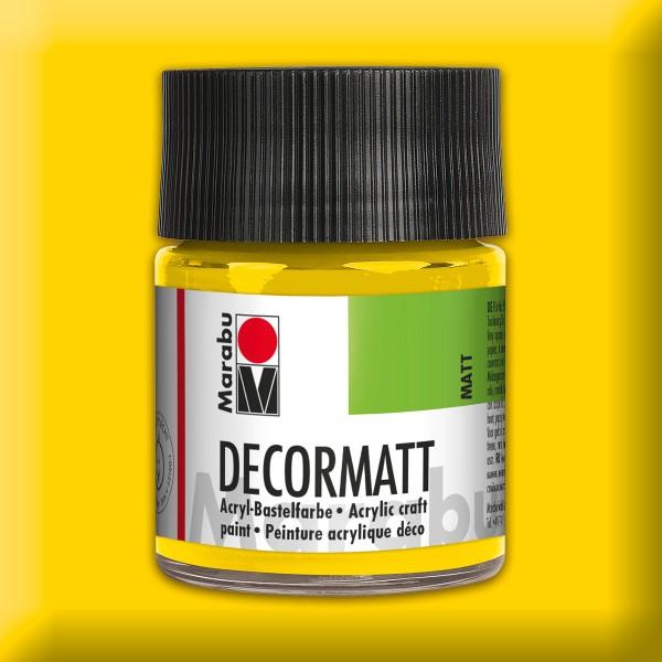 Decorlack Acryl matt 50ml gelb