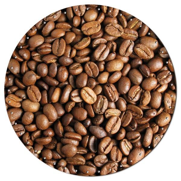 Korbflechtboden HDF 3mm Ø ca. 29cm rund Kaffeebohnen 45 Bohrungen 3mm, beidseitig lackiert