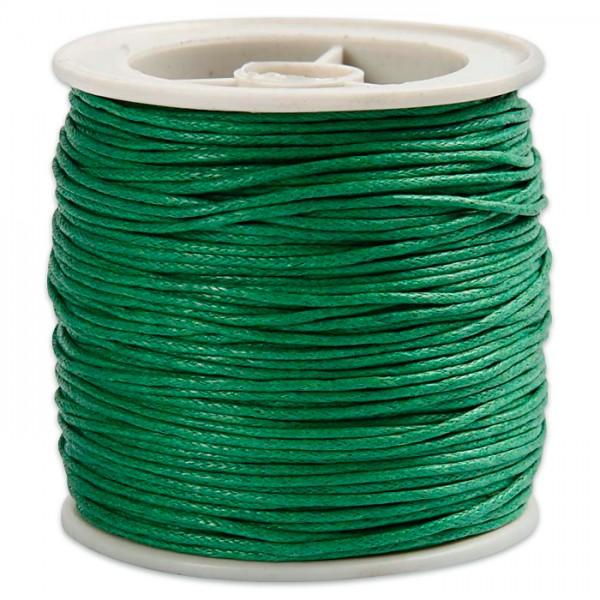 Baumwollband gewachst 1mm 40m grün 100% Baumwolle