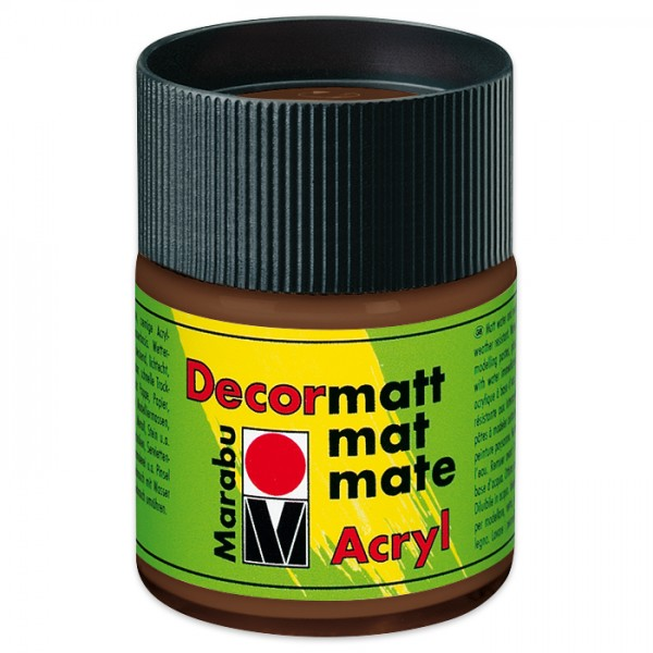 Decorlack Acryl matt 50ml hellbraun