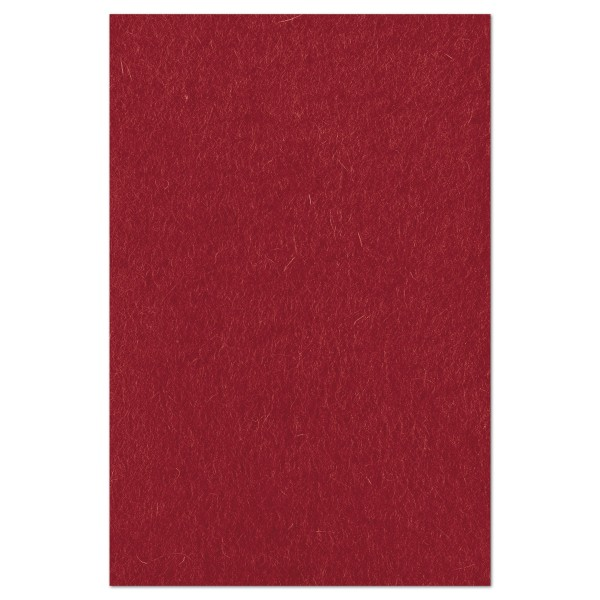 Wollfilz ca. 1-1,2mm 20x30cm bordeaux 100% Wolle