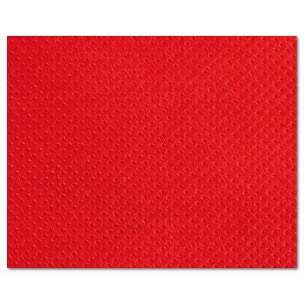 Stoff-Imitat 70g/m² Meterware rot 100% Polypropylen, 125cm breit