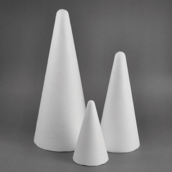 Styropor-Kegel weiß ca. 20cm