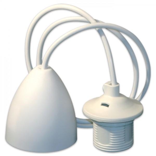 Kabelsatz für Pendelleuchten 1m weiß
