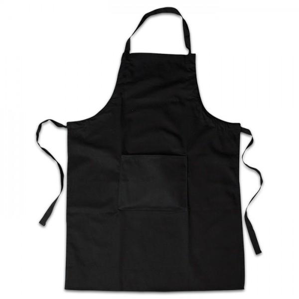 Schürze mit Tasche 66x89cm schwarz 100% Baumwolle