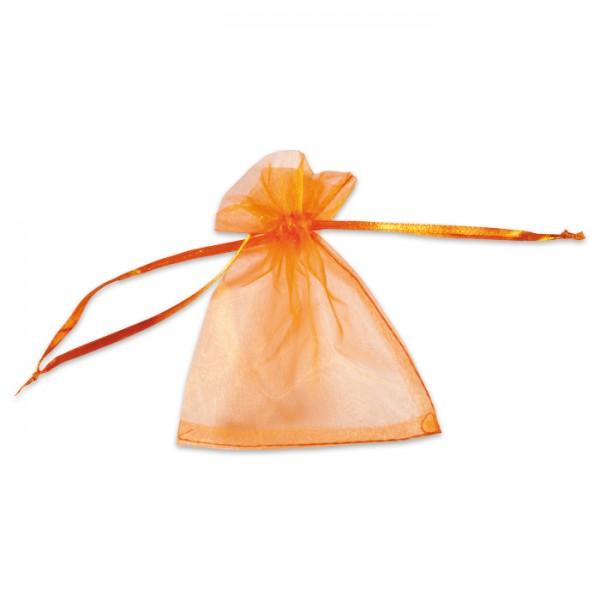 Organza-Säckchen 10x13cm orange Polyester